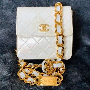 CHANEL Quilted Gold HW Chain Belt Waist Bag Bumbag